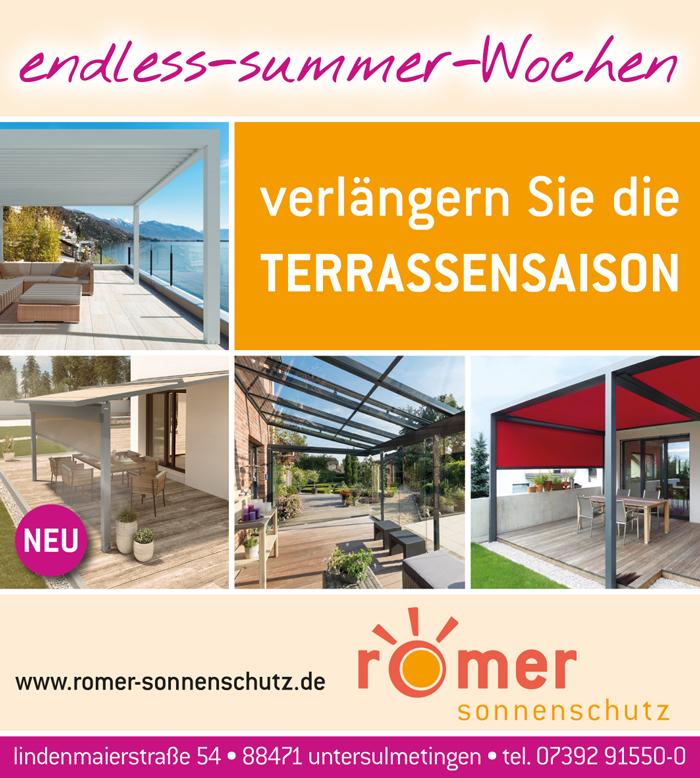 endless-summer-Wochen bei Romer Sonnenschutz