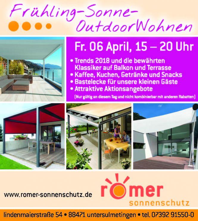 Frühling-Sonne-OutdoorWohnen - Aktionstag